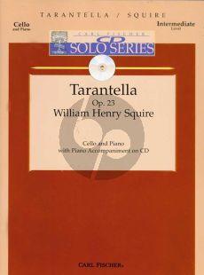 Squire Tarantella Op.23 (Violoncello-Piano) (Book with Play-Along CD)