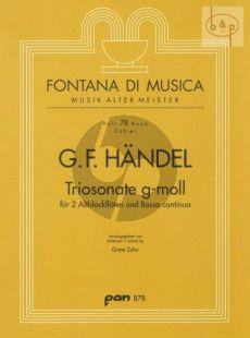 Triosonate g-Moll 2 Altblockflöten-Bc