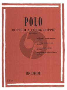 Polo 30 Studi a corde doppie (30 Double Chord Studies for Violin (1 - 3 Pos.)