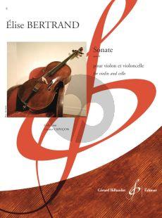 Bertrand Sonate Op.8 for Violin and Cello