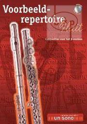Voorbeeld Repertoire B-Examen (Flute-Piano with play-along CD) (Bk-Cd)