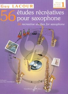 Lacour 56 Etudes Recreatives Vol.1 (30 Etudes) Saxophone (Bk-Cd)