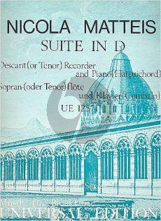 Matteis Suite D-major Descant(Tenor) Recorder-Piano (Carl Dolmetsch)
