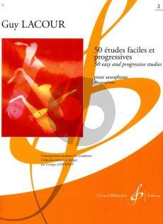 Lacour 50 Etudes Faciles et Progressives Vol.2 Saxophone