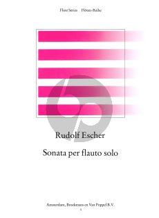 Escher Sonata Op.16 (1949) Flute solo (edited by Rien de Reede) (Grade 3)