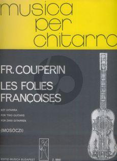 Couperin Les Folies Francaises 2 Guitars