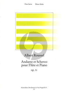 Roussel Andante & Scherzo Op.51 Flute-Piano (Roorda)