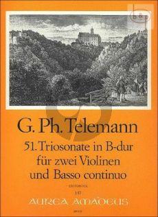 Triosonate B-dur TWV 42:B6 (Sonata Polonaise)