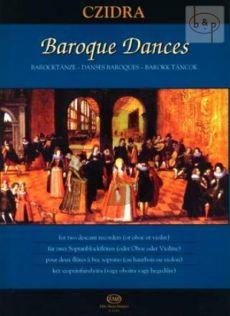 Baroque Dances for 2 Descant Recorders [Ob./Vi.]