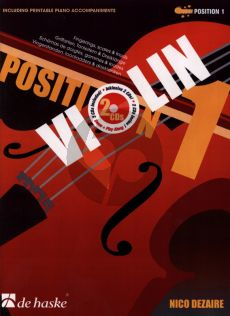 Dezaire Violin Position 1 (1st.Pos.) (Fingerings-Scales and Triads) (Bk- 2 Cd's)