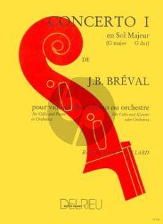 Breval Concerto No.1 G-major Violoncello-Piano (Feuillard)