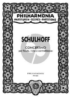Schulhoff Concertino Flote-Viola-Kontrabass (Studienpartitur)
