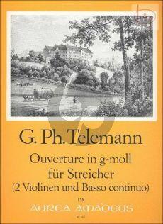 Ouverture g-moll TWV 55:g8 (Strings) (2 Vi.-Bc)