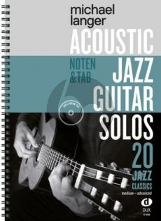 Langer Acoustic Jazz Guitar Solos with TAB Book wit Cd