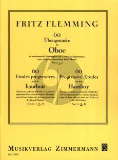 Flemming 60 Ubungsstucke Vol. 2 in fortschreitender Schwierigkeit mit 2.Oboe als Begleitstimme