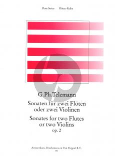 Telemann 6 Sonaten Op.2 (TWV 40:101-106) 2 Flutes (or 2 Violins) (Jochen Gartner) (interm.level)
