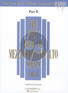 First Book of Mezzo-Soprano/Alto Solos Vol.2