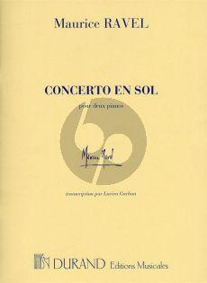Ravel Concerto en sol Piano-Orchestre (ed. 2 Pianos) (2 parts included)