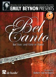 Beynon Bel Canto Fluit en Harp of Piano (CD with demo & play-along) (arr. Robert van Beringen)
