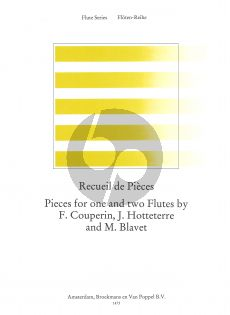 Recueil de Pieces (Pieces for 1 and 2 Flutes) (Couperin-Hottetterre-Blavet) (edited by Frans Vester)