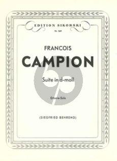 Campion Suite d-moll Gitarre (Siehfried Behrend)