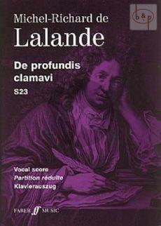 De Profundis Clamavi S.23 (Psalm 129[130]) & Requiem aeternam (SATBB-SSTTB Solists-Orch.)