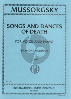 Mussorgsky Songs and Dances of Death Low Voice (Marion Farquhar) (English/Russian)