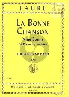 Bonne Chanson opus 61 (High Voice)