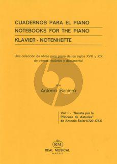 Soler Sonata Por La Princesa De Asturias Harpsichord
