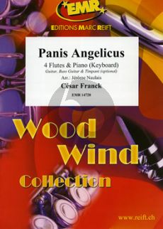 Franck Panis Angelicus for 4 flutes and piano (keyboard)