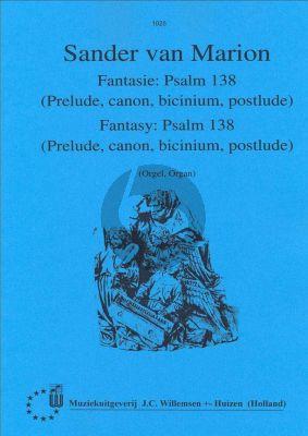 Marion Fantasie over Psalm 138 voor Orgel
