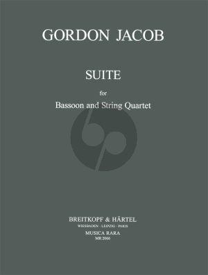 Jacob Suite for Bassoon- 2 Violins-Viola-Violoncello (Score/Parts)