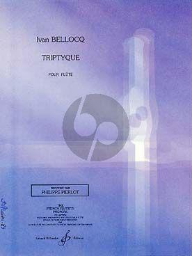 Bellocq Triptyque Flûte seule