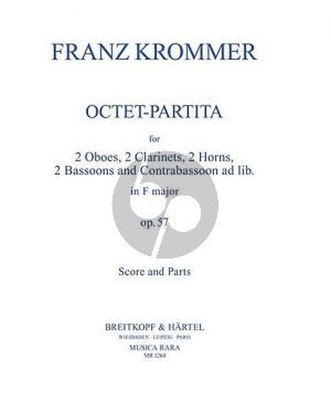 Krommer Octet-Partita F-Major Op.57 (2 Oboes- 2 Clarinets- 2 Bassoons- 2 Horns) (Score/Parts) (Hellyer)