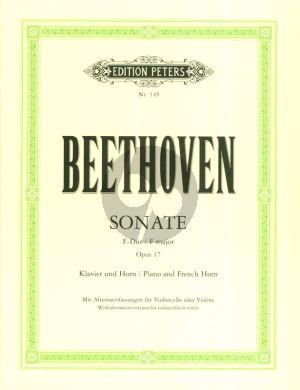 Beethoven Sonate F-dur Op.17 Horn [Violine/Violoncello] und Klavier (mit Alternativfassungen fur Violine oder Violoncello) (Herausgegeben von Friedrich Hermann und Friedrich Grützmacher)