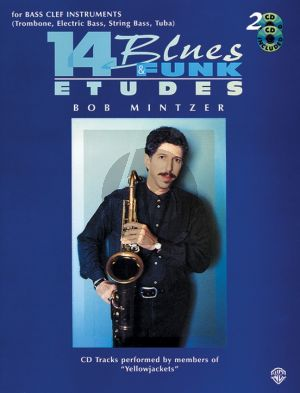 Mintzer 14 Blues & Funk Etudes for Bass Clef Instruments (Book with 2 CD Set)