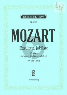 Exultate Jubilate KV 165[158a] (Motetto) (Soprano-Orch.-Organ) (Vocal Score)