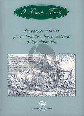 9 Sonate Facili del Baroco Italiano Violoncello-Bc.