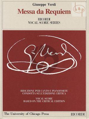 Messa da Requiem Soli-Choir-Orchestra Vocal Score