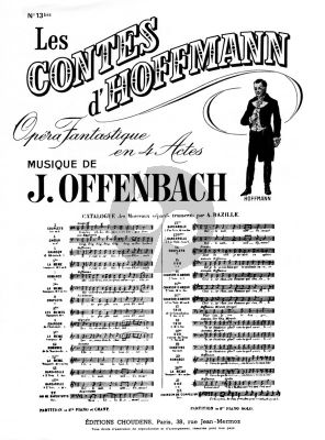 Offenbach Barcarolle (Soprano et Mezzo-Soprano) (D-major) et Piano (Contes d'Hoffman) (French)