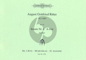 Ritter Sonate No. 4 A-dur Op. 31 Orgel