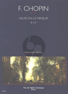 Chopin Valse La mineur Bl150 Op.Posth. Piano