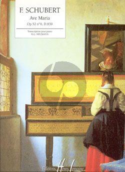 Schubert Ave Maria op.52 no.9 D.839 Piano (ed. H.G. Heumann)