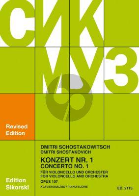 Shostakovich Concerto No.1 Op.107 Violoncello-Orchestra (piano red.) (Rostropovich)