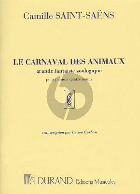 Saint-Saens Carnaval des Animaux pour Piano a Quatre Mains (transcr. Lucien Garban)