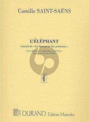 Saint-Saens L'Elephant (from Le Carnaval des Animaux) Violoncello[Double Bass]-Piano (Garban)