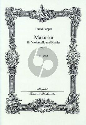 Popper Mazurka Op.12 Violoncello-Klavier