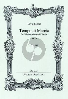 Popper Tempo di Marcia Op.16 Violoncello-Klavier