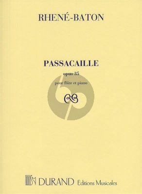Rhene-Baton Passacaille Op. 35 Flute andPiano