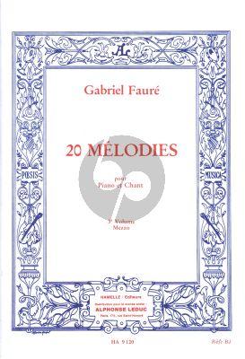 Faure 20 Melodies Vol.3 Voix Moyenne (Hamelle)